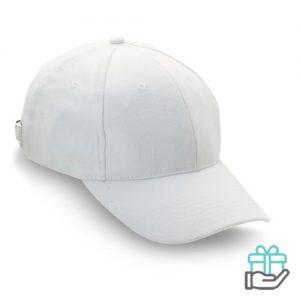 Baseball cap geborsteld katoen wit bedrukken
