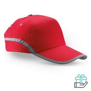 Baseball cap reflectie rood bedrukken