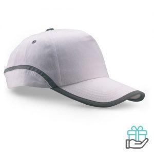 Baseball cap reflectie wit bedrukken