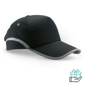 Baseball cap reflectie zwart bedrukken