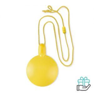 Bellenblaas bal geel bedrukken