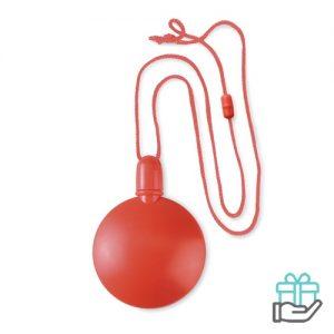 Bellenblaas bal rood bedrukken