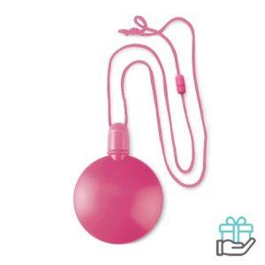 Bellenblaas bal roze bedrukken