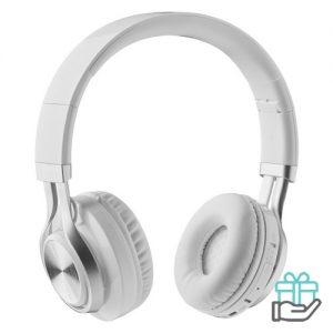 Bluetooth koptelefoon 4.2 wit bedrukken