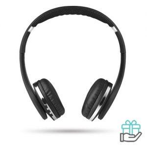 Bluetooth koptelefoon opvouwbaar zwart bedrukken