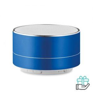 Bluetooth luidspreker aluminium 3W koninklijk blauw bedrukken