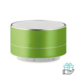 Bluetooth luidspreker aluminium 3W limegroen bedrukken