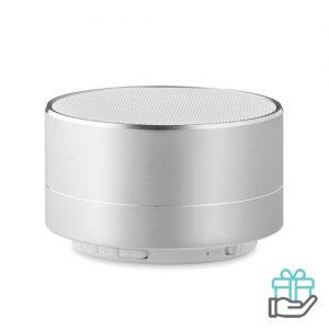 Bluetooth luidspreker aluminium 3W mat zilver bedrukken