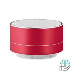 Bluetooth luidspreker aluminium 3W rood bedrukken