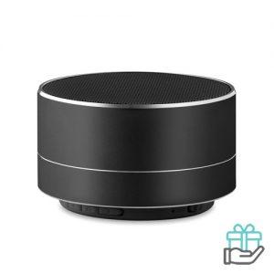 Bluetooth luidspreker aluminium 3W zwart bedrukken