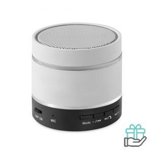 Bluetooth luidspreker aluminium wit bedrukken