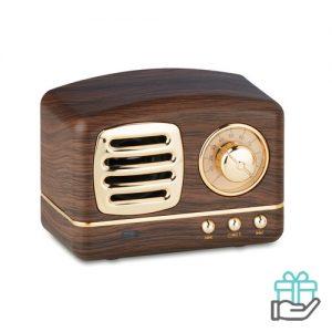 Bluetooth luidspreker hout houtkleur bedrukken