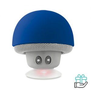 Bluetooth luidspreker paddenstoel koninklijk blauw bedrukken
