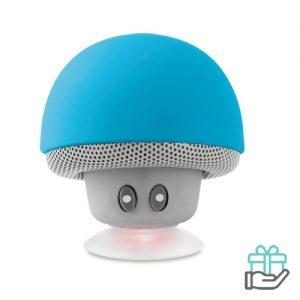 Bluetooth luidspreker paddenstoel turquoise bedrukken