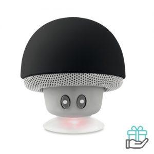 Bluetooth luidspreker paddenstoel zwart bedrukken