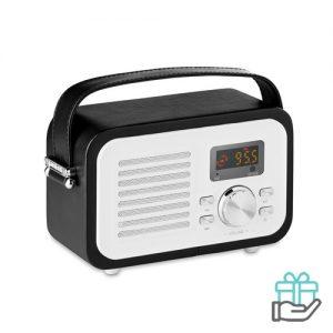 Bluetooth luidspreker radio zwart bedrukken