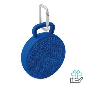 Bluetooth luidspreker rond koninklijk blauw bedrukken