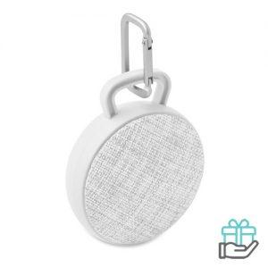 Bluetooth luidspreker rond wit bedrukken