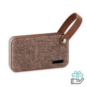 Bluetooth luidspreker versterker bruin bedrukken