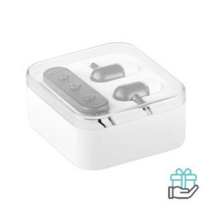Bluetooth oordopjes microfoon lion wit bedrukken