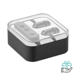 Bluetooth oordopjes microfoon lion zwart bedrukken