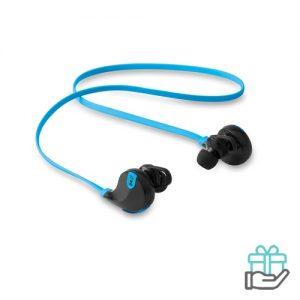 Bluetooth oortelefoon stereo turquoise bedrukken