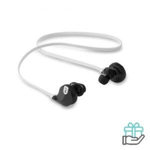 Bluetooth oortelefoon stereo wit bedrukken