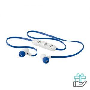 Bluetooth oortjes color koninklijk blauw bedrukken