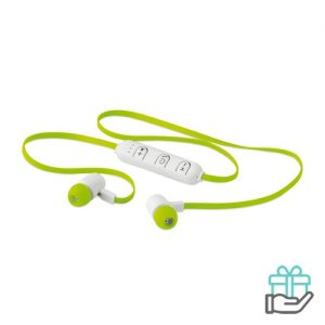 Bluetooth oortjes color limegroen bedrukken