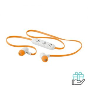 Bluetooth oortjes color oranje bedrukken