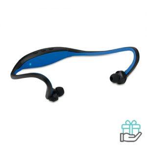 Bluetooth oortjes nekband koninklijk blauw bedrukken