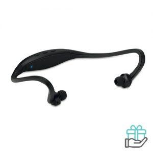Bluetooth oortjes nekband zwart bedrukken