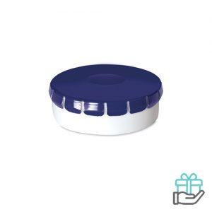 Click clack pepermuntdoosje blauw bedrukken