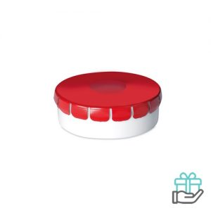 Click clack pepermuntdoosje rood bedrukken