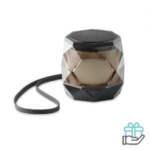 Diamant Bluetooth speaker 5.0 zwart bedrukken