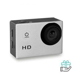 Digitale sportcamera 4x zoom mat zilver bedrukken