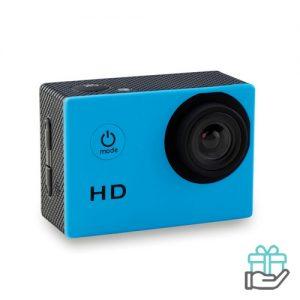 Digitale sportcamera 4x zoom turquoise bedrukken