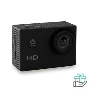 Digitale sportcamera 4x zoom zwart bedrukken