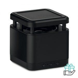 Draadloze luidspreker cube zwart bedrukken