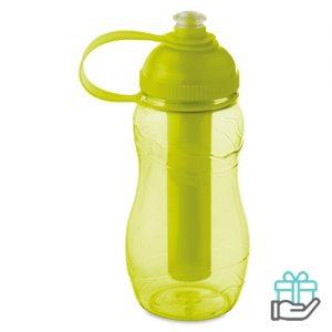 Drinkfles koelelement 400ml transparant limegroen bedrukken