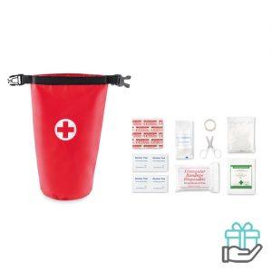 EHBO-tas waterprooftas rood bedrukken