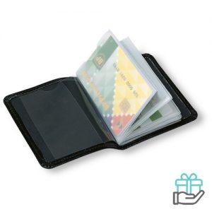 Etui voor creditcards zwart bedrukken