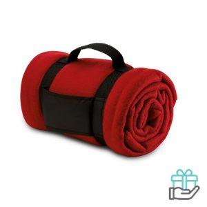 Fleece deken comfy rood bedrukken