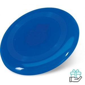 Frisbee strand blauw bedrukken