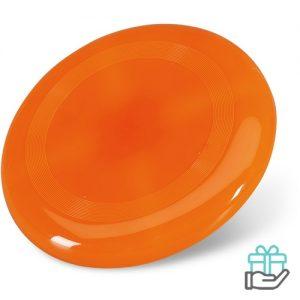 Frisbee strand oranje bedrukken