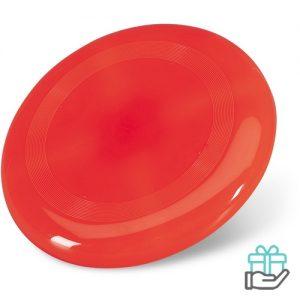Frisbee strand rood bedrukken