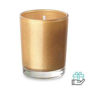 Geurkaarsje glas goud bedrukken