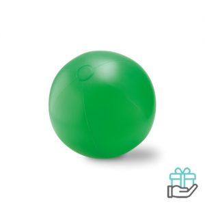Grote opblaasbare strandbal groen bedrukken