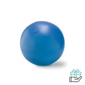 Grote opblaasbare strandbal koninklijk blauw bedrukken