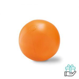 Grote opblaasbare strandbal oranje bedrukken